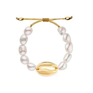 Freshwater Pearl and Shell Bracelet